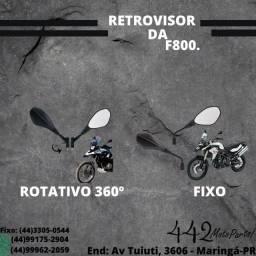 Retroviso F800 fixo ou rotativo