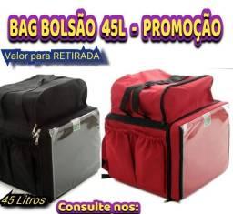 Mochila Bolsa Entregador Moto 45 litros Isopor Vermelha Acessório