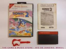 Master System: Sonic The Hedgehog 2, Original, TecToy, com Manual e Capa