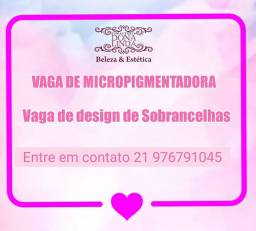 Vaga de Micropigmentadora E design de sobrance