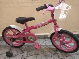 Bicicleta Caloi aro 16 Barbie Princesa