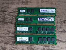 Memória DDR2 4GB 4X1GB