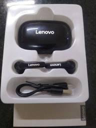 Fone bluetooth Lenovo QT81 novo