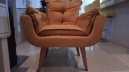 Vendo 2 cadeiras opalla amarela pé palito R$ 400 cada poltrona