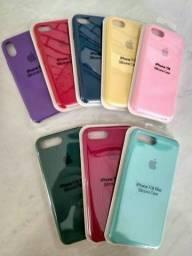 Promoção Case de Silicone para iPhone 7/8/Plus e Xs!