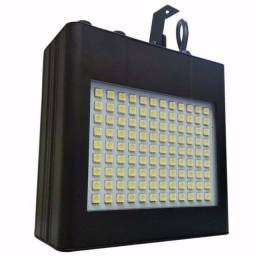 Strobo Flash 108 Leds Branco sensor Rítmico Efeito Câmera Lenta