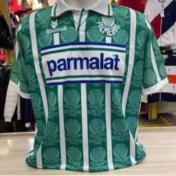 Camisa Palmeiras Retro Parmalat Edmundo 1993 Dry-fit Premium