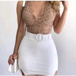 PROMOÇÃO!! Short saia branco maravilhoso!!
