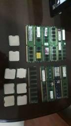 Memórias e processadores vendo ou troco