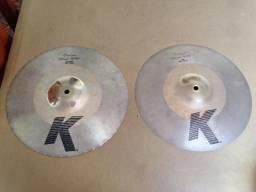 """Zildjian K Custom Hybrid Hi Hat 13.25"""" Akira Jimbo * Top de Linha *"""