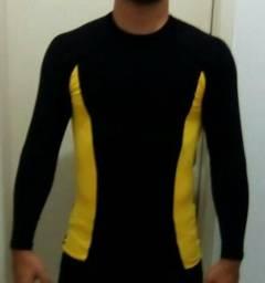 Camisa segunda pele compressão proteção UV