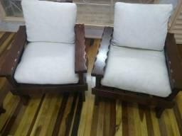 Sofá rústico madeira