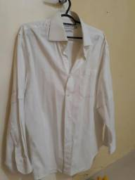 R$ 43. Camisa tecido - tamanho 42 - Marca Crawford - cor branca - masculina