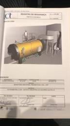 Caldeira Industrial a lenha 750 kg/h