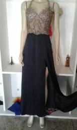 Vestido de festa, longo, elegante e lindo