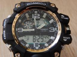 e298e7a749d Relógio Masculino Digital Esportivo Militar Tipo G-Shock - Preto