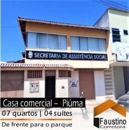 Casa + loja de frente para o Parque de Piúma: Alugada para a Prefeitura por R$ 2.800,00