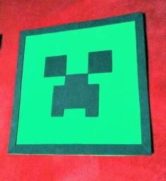 Quadro Minecraft Creeper (encomenda)