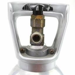 Cilindro CO2 com válvula de ajuste fino