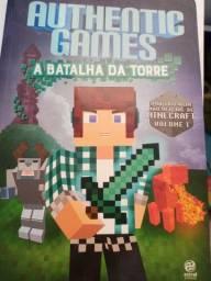Livro de aventura minecraft authentic games a batalha da torre