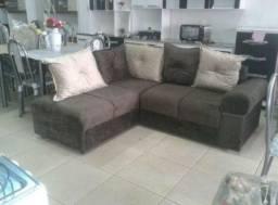 Sofá de canto pequeno lindo e aconchegante novo com várias cores disponiveis