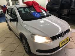 Volkswagen Novo Gol 2014 1.0 Flex Track Branco (Estudo Troca e Financio)