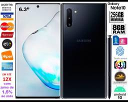 "Galaxy Note 10 Plus 8Core, 256GB, 12GB Ram, Tela de 6.8"", 4Câm, Novíss, Cx, NF, Gar, Troco"