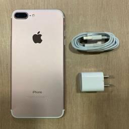 Loja física. IPhone 7 Plus 32GB rosa bateria 86% nunca mexido