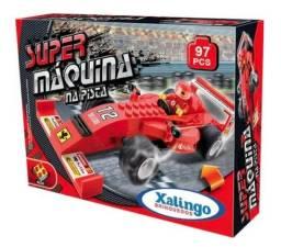 Brinquedo Para Montar Super Maquina Na Pista 97pcs Carro Corrida F1