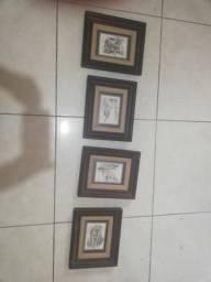 4 postais antigos enquadrados pela galeria de fotos comprar usado  Santos