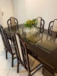 Mesa de Jantar e 6 Cadeiras de Luxo