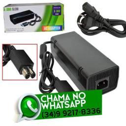 Entrega Grátis * Fonte Energia Xbox 360 Slim Bivolt * Chame no Whats
