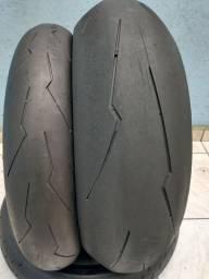 Par de pneu Pirelli super Corsa 190/55 120/70