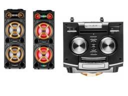 Caixa De Som Party Speaker Multilaser 1600w, Bluetooth Sp360