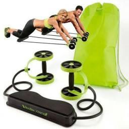 Elástico, roda e aparelho abdominal Exercícios