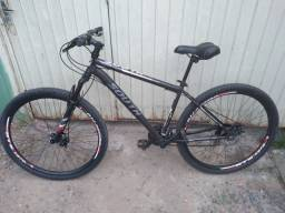 Bike aro 29, freio a disco 21 marchas, aceito cartão