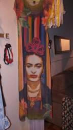 Vendo vestido longo com a segunda pele lindo da Frida tamanho m