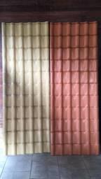 Telha de Pvc Precon cor ceramica e marfim- Ultimas unidades com o preço antigo