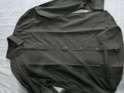 Camisa Social Cinza Quadriculada Tamanho 4 Nunca Usada