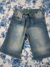 Bermudas é calça Tam: 4 anos
