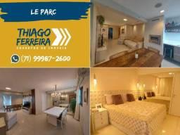 Lê Parc, 3 quartos, mobiliado e decorado, porteira fechada, 112m² e 2 vagas