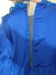 Vestido Festa Plus Size N56 azul royal