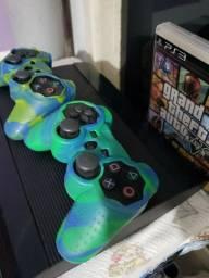 PS3 com 2 controles