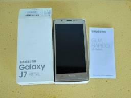 Samsung J 7 Metal, Sem detalhes, c/ caixa e carregador original