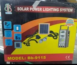 Kit duas lâmpadas e Luminária solar grande promoção