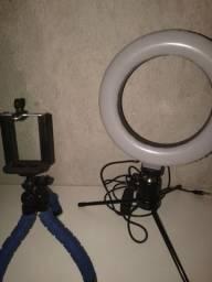 Ring light e tripé