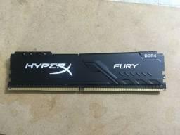 Memória RAM 16GB 2666 MHZ Kingston HyperX Fury usada