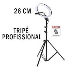 RING LIGHT 26 cm com Tripé  + suporte central