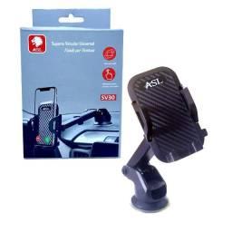 Suporte Celular Veicular Universal SV30 Asl Ventosa Trava Automatica