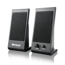 caixa d som multilaser para pc e notebook compativel com qualquer sistema